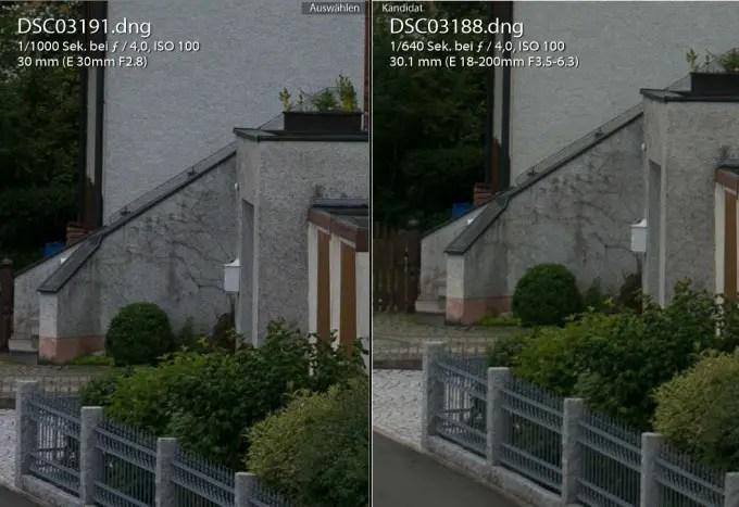 Sigma 30 mm Festbrennweite vs. Tamron 30 mm am Bildmitte