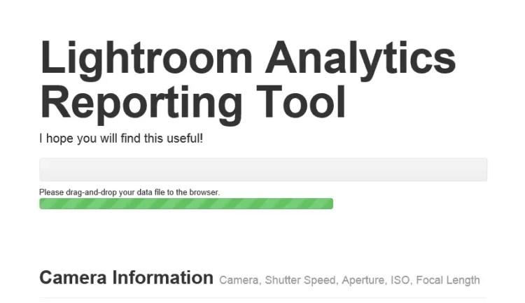 JSON-Datei vom Desktop auf das Analytics-Toll im Browser ziehen