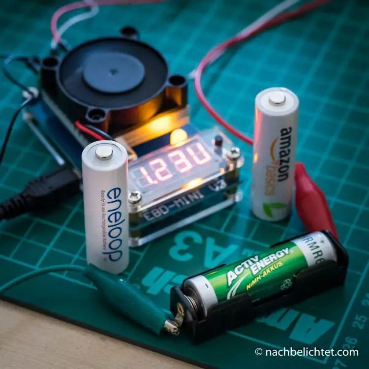 Testaufbau mit der Elektronischen Last