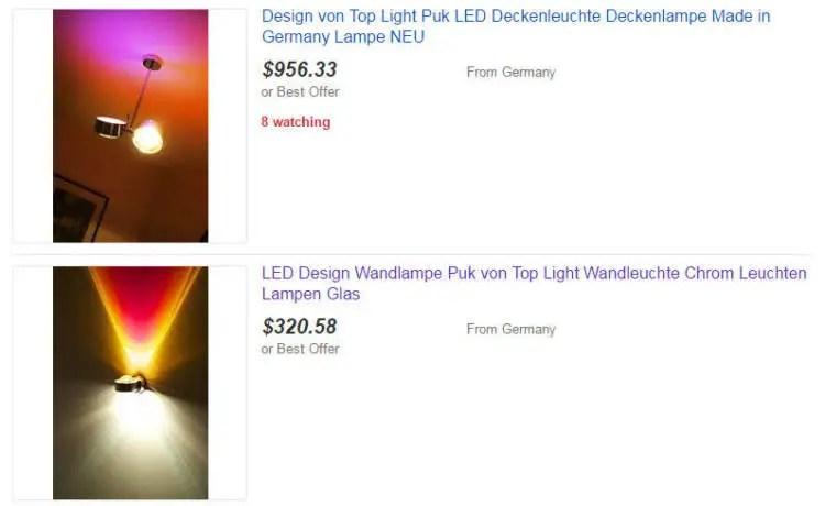 eBay Home&Garden PUK Wandlampen