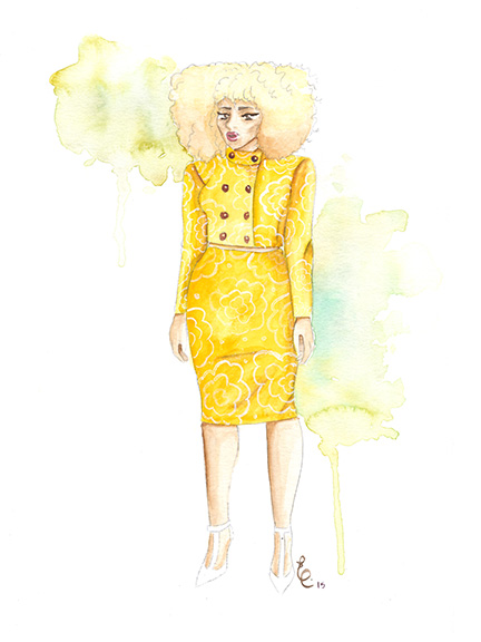 Watercolor illustrations by Elayna Speight, thinkinkeddesigns.com