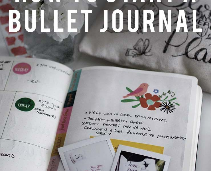 How to Start a Bullet Journal | nachesnow.com/bulletjournal