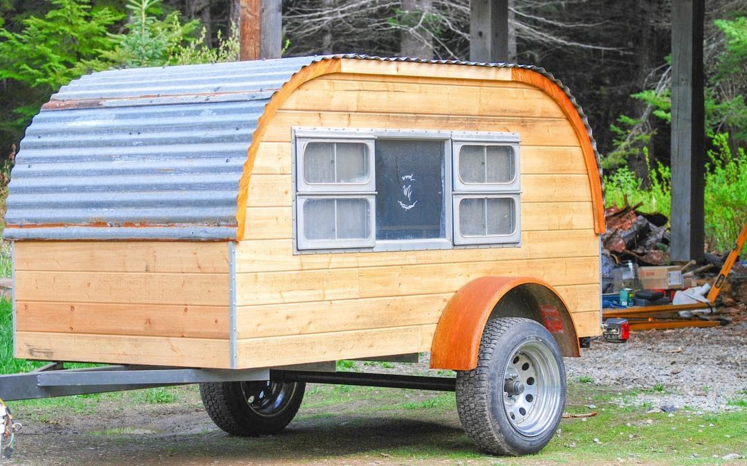 Wood Intimations Tear Drop Trailer