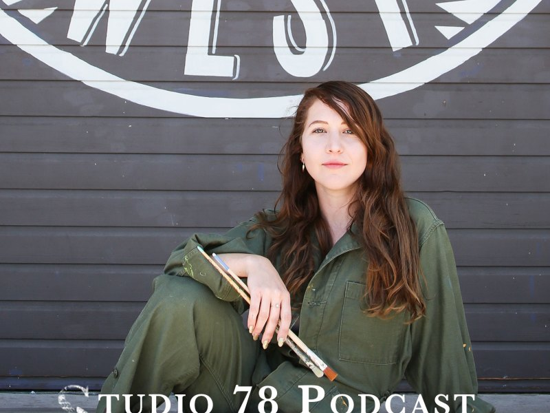 Pictured: Lindsay Sochar a sign painter and muralist. Listen to her episode on the Studio 78 Podcast. Show notes are at nachesnow.com/89