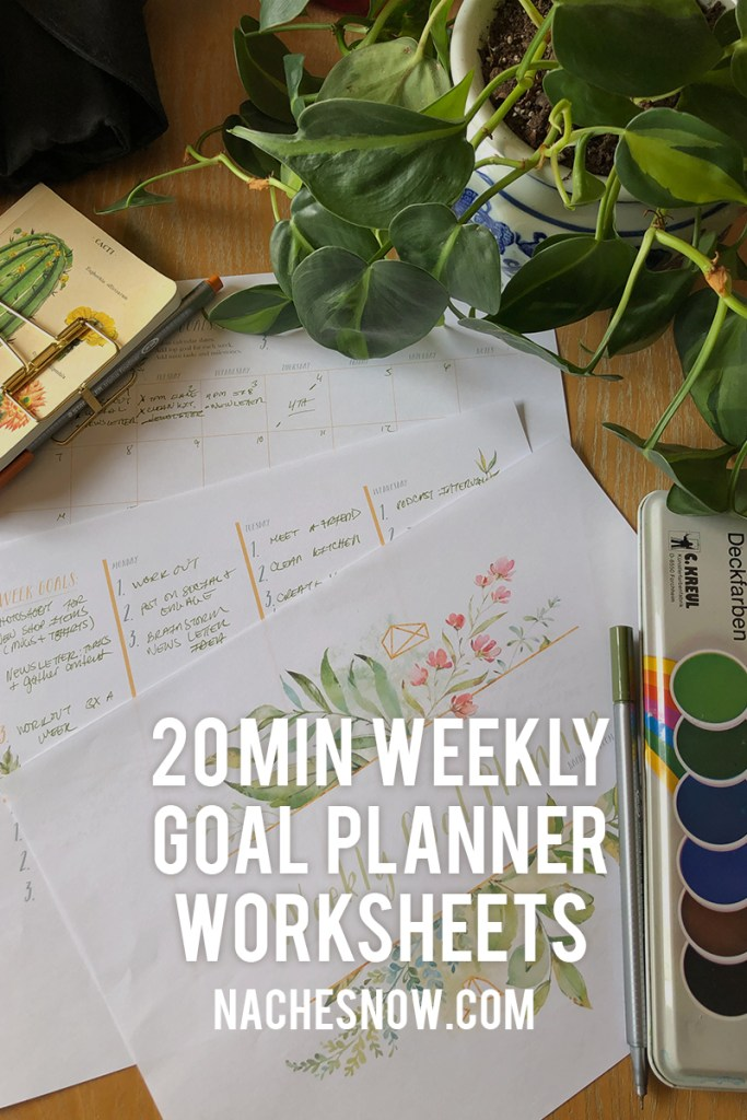 Prioritize Your Weekly Goals with Free Worksheet | nachesnow.com/weeklyplanner