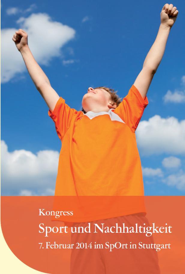 """Kongress """"Sport und Nachhaltigkeit"""" in Stuttgart nachhaltiger Sport"""