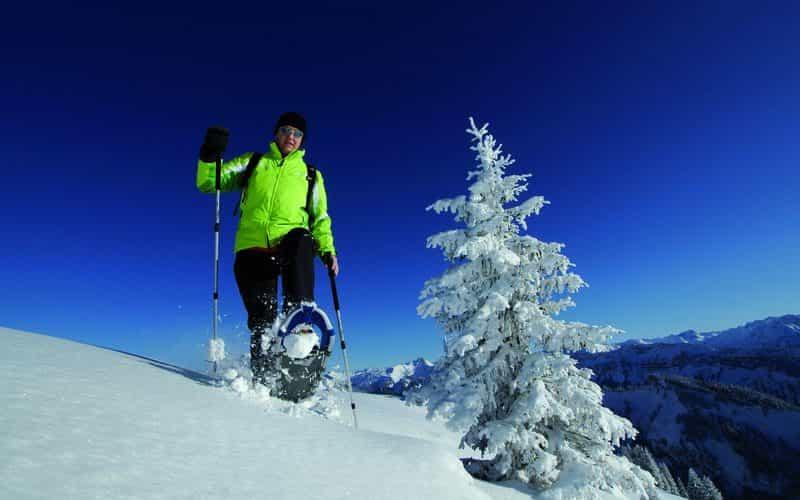 Schneeschuhwanderung auf der Niedere in Andelsbuch