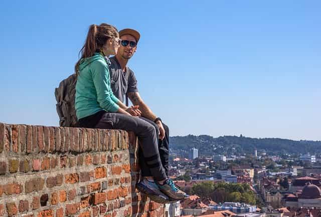paar, jungs, touristen
