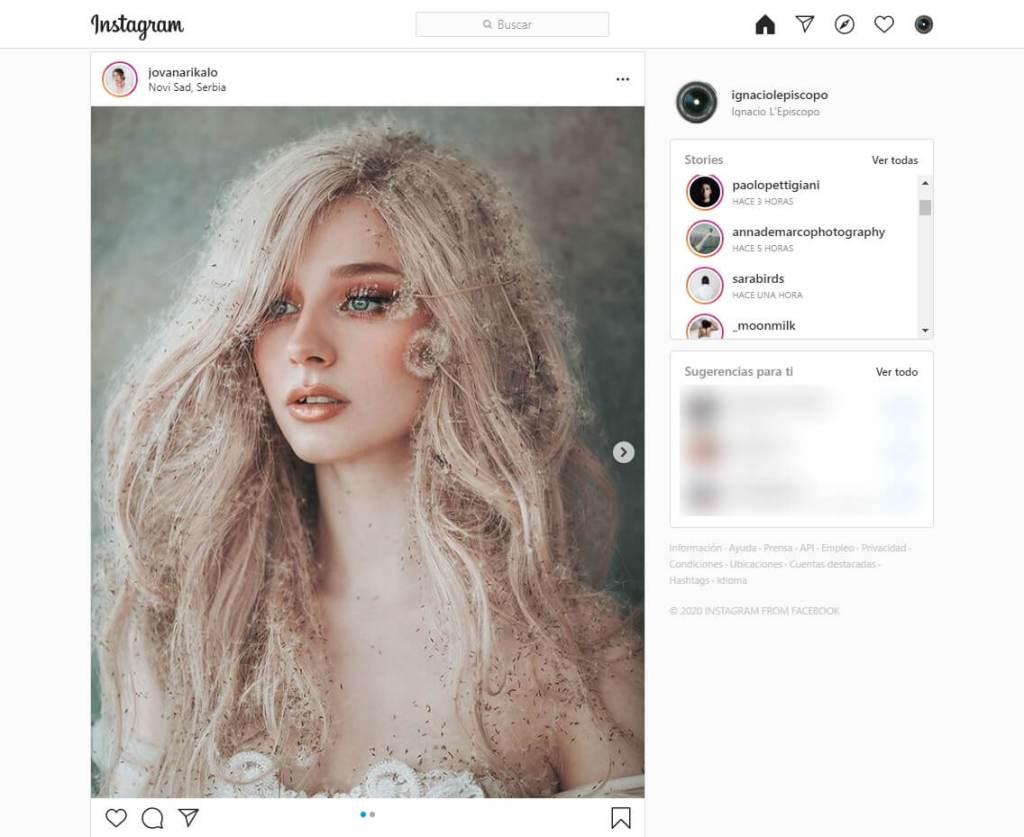 Instagram desde Chrome
