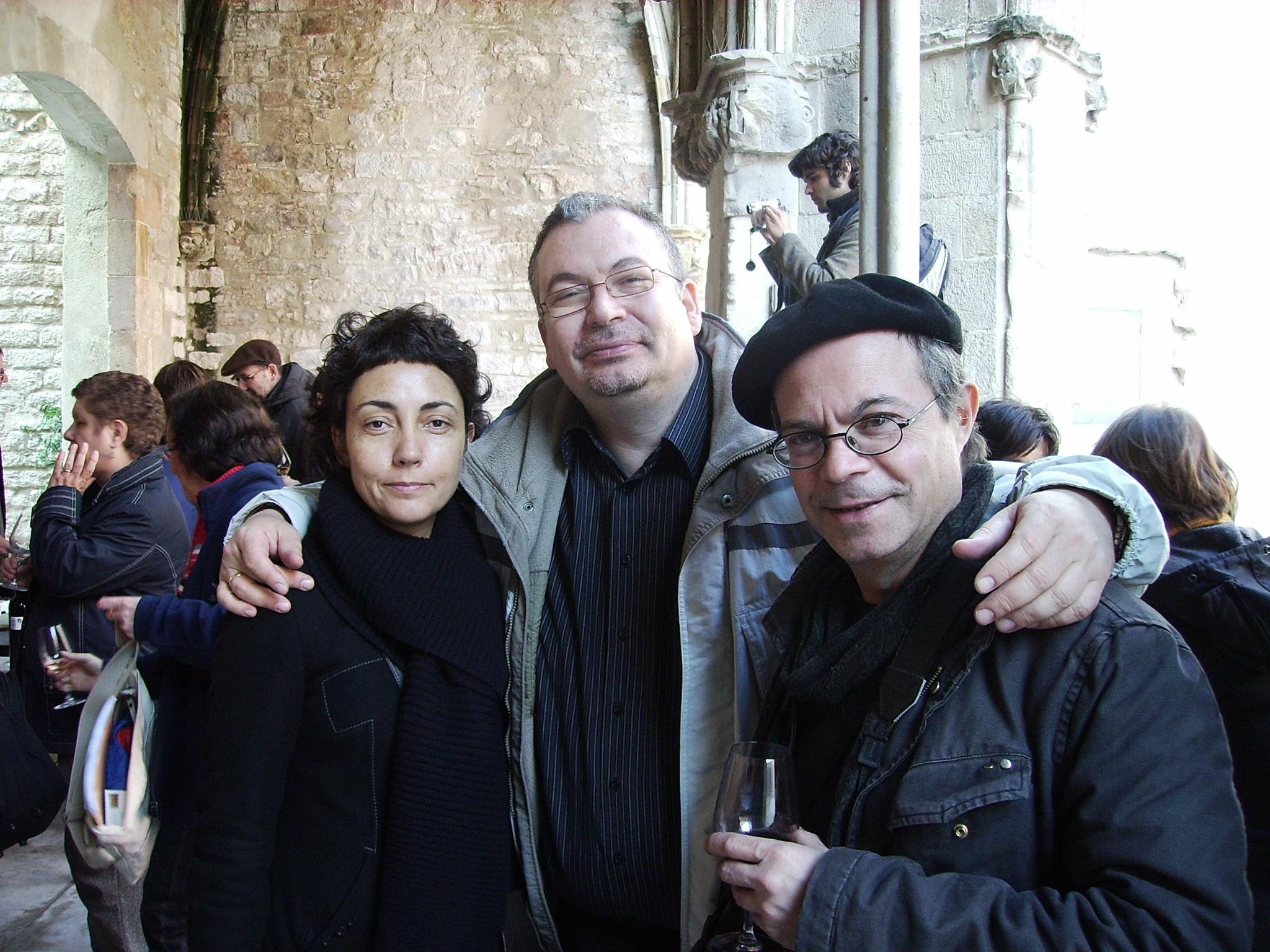 con Malena y Claudio, de Observatorio de vino