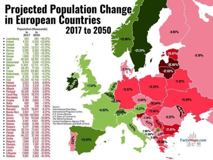 """МАПА СРПСКЕ СМРТИ! Изгубићемо милионе људи, нова карта открива како ће """"бела куга"""" масакрирати нашу СРБИЈУ (ФОТО) 1"""