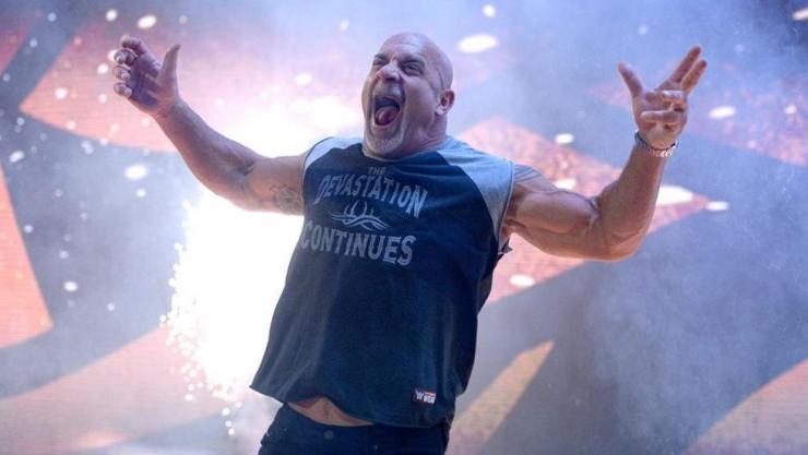Goldberg venció a Brock Lesnar