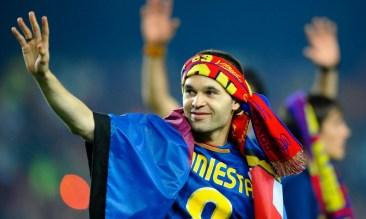 Andrés Iniesta en el Barcelona