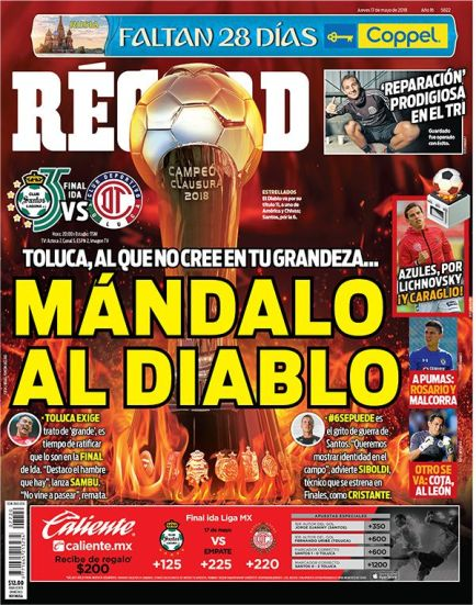 diarios deportivos del 17 de mayo de 2018