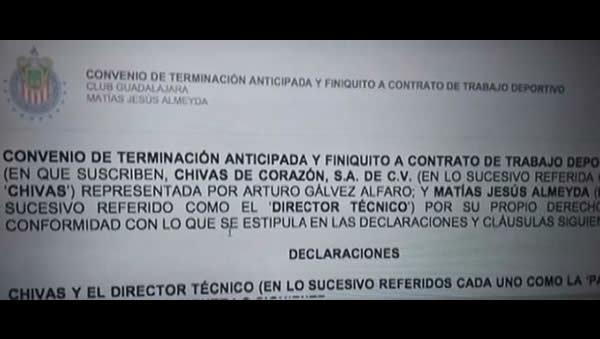 se filtró una carta finiquito enviada a Matías Almeyda.
