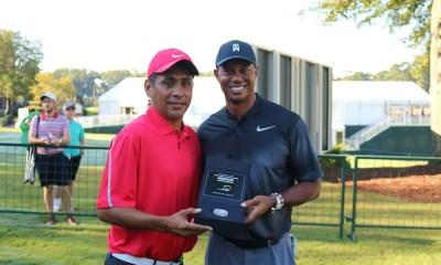 Tiger Woods y Campos presentaron moneda