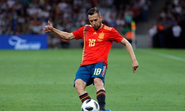 Jordi Alba regresó a la selección española