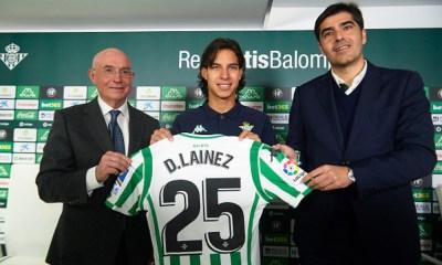 Lainez fue presentado con el Betis
