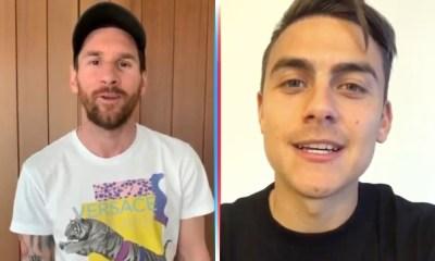 Messi y Dybala felicitaron al 'Chaquito' Giménez