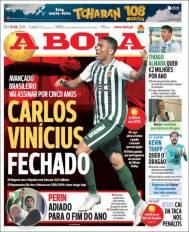 Carlos Vinícius sería presentado la próxima semana como refuerzo del Benfica. (A Bola)