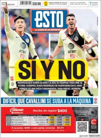 Edson Álvarez sí saldrá de las 'Águilas' y Guido Rodríguez se quedará en el club. (Esto)