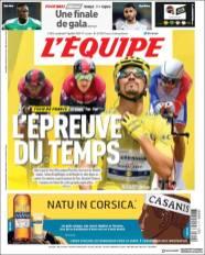 Julian Alaphilippe buscará retener la maillot amarillo en la etapa de este viernes. (L'Equipe)