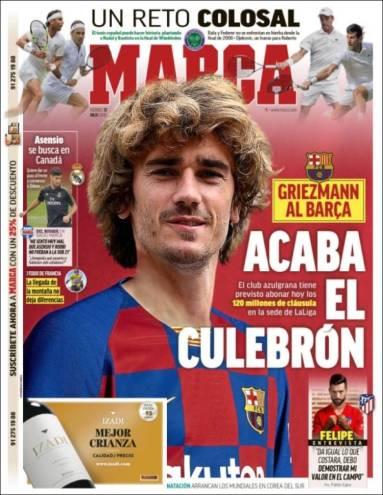 Antoine Griezmann sería presentado este día como refuerzo estelar del Barça. (Marca)