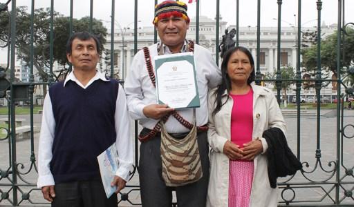 Nación Wampís recibe reconocimiento por su labor en la defensa del ambiente