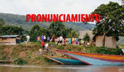 Nos pronunciamos sobre el derrame ocurrido en la comunidad wampis de Mayuriaga