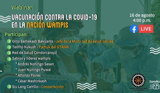 Nación Wampis sensibiliza a comunidades sobre la vacunación contra la Covid-19