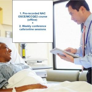 Semi-interactive online/offline NAC OSCE course (3-12 month subscription)