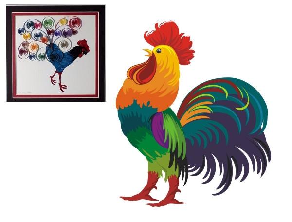 Trukket rooster.