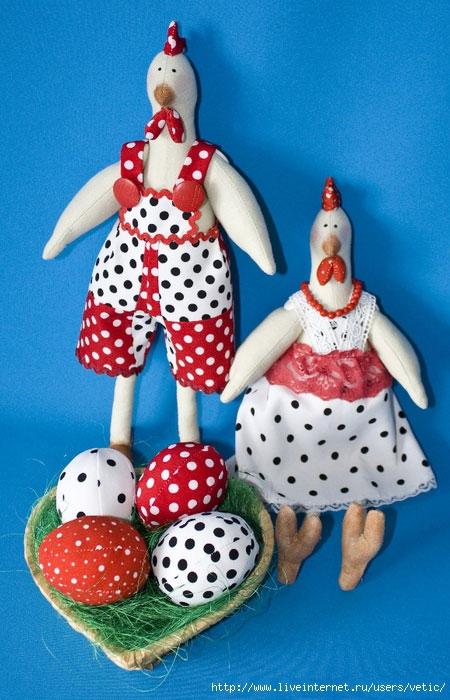 Hane og kylling i stilen af Tilda