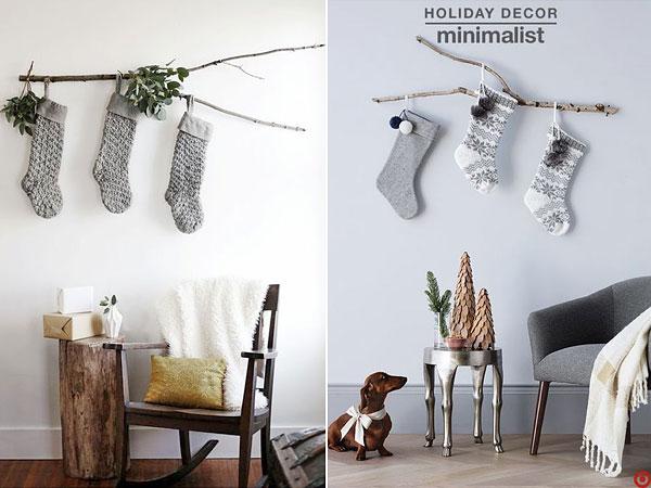 Новогодний декор в стиле минимализм
