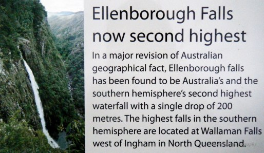 Ellenborough Falls Sign