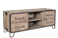 Iron And Wood Tv Stand - Nadeau Alexandria