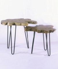 Side Table Natural Wood Top - Nadeau Little Rock