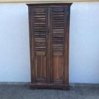 Short Louvered Door Cabinet - Nadeau Alexandria