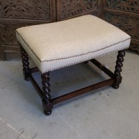 Small Bench with Upholstered Seat - Nadeau Alexandria