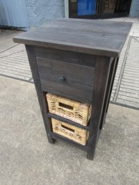 Nightstand with Baskets - Nadeau Houston