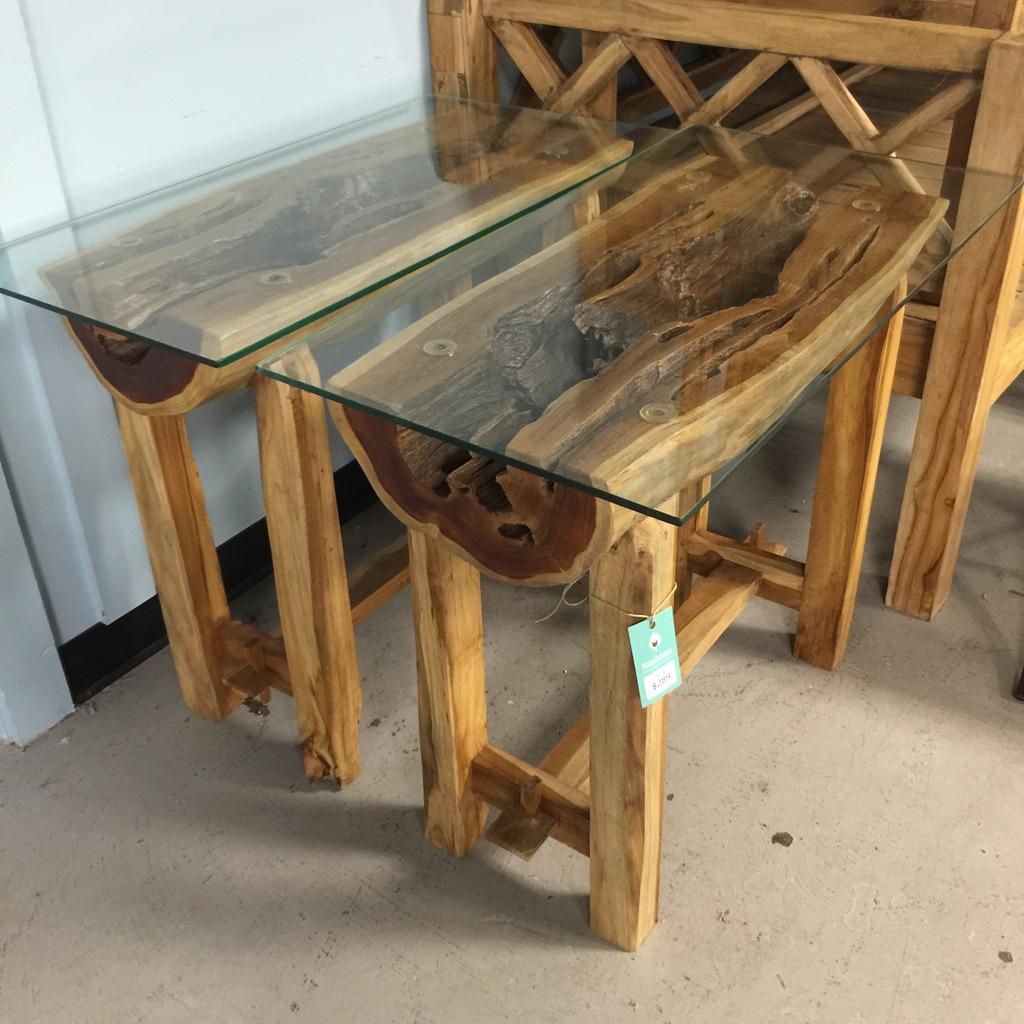 Small Teak Wood Console Table Nadeau Nashville