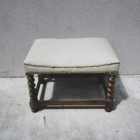 Small Bench with Upholstered Seat