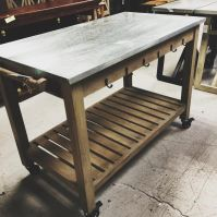Kitchen Table on Wheels - Nadeau Birmingham
