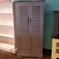 Short Louvered Door Cabinet - Nadeau Memphis