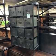Open Metal Shelving Kitchen Towel Rack Industrial Dresser With Drawers - Nadeau Cincinnati