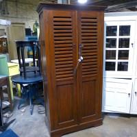 Short Louvered Door Cabinet - Nadeau Chicago