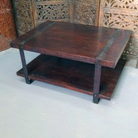 Iron and Wood Coffee Table - Nadeau Chicago
