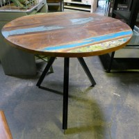 Industrial Round Side Table - Nadeau Chicago
