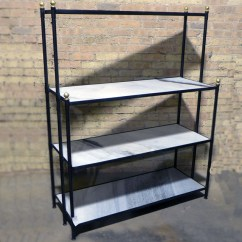 Kitchen Shelf Prefab Granite Countertops Iron And Marble Nadeau Chicago