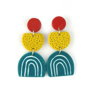DOODLE contemporary earrings nadege honey
